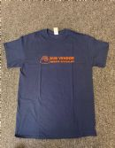 Dub Vendor Reggae Specialist T-Shirt - Navy Blue / Orange (Various Sizes)